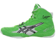 Борцовки Asics Cael V5.0 Electric Green/Black/White J202Y-7090 в зеленом цвете фото вид слева
