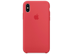 Чехол-накладка Apple Silicone Case iPhone Red Raspberry