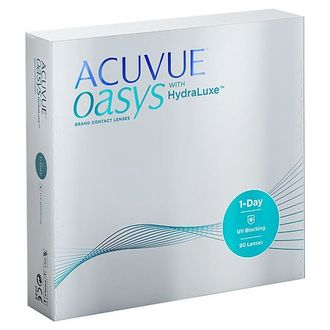 1-DAY ACUVUE OASYS with HydraLuxe (90 линз)