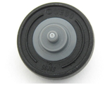 Wheel Center Small with Stub Axles Pulley Wheel with Black Tire 14mm D. x 4mm Smooth Small Single with Number Molded on Side 3464 / 59895, Dark Bluish Gray (3464c03)