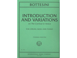 Bottesini, Giovanni  Introductions and Variations on the Carnival  in Venice