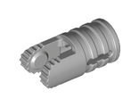 Hinge Cylinder 1 x 2 Locking with 2 Fingers, 9 Teeth and Axle Hole on Ends with Slots, Light Bluish Gray (30553 / 4222047)