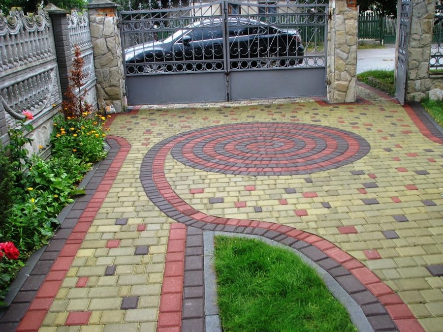 Технология укладки тротуарной плитки в частном дворе