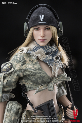 ТЕЛО И ГОЛОВА 1/6 Supermodel Head Sculpt + Female Body Set (FX07 A) - VERYCOOL