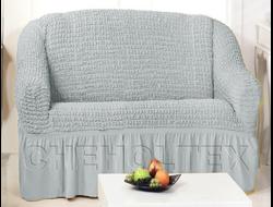 Чехол Стандарт на 2-х местный диван, цвет Серый