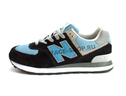 Кроссовки New Balance 574 Black\Blue сетка
