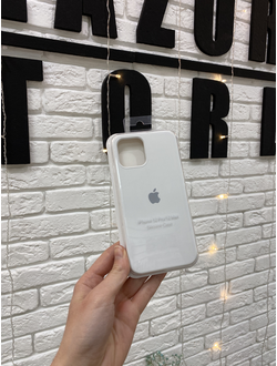 Чехол Apple Silicone case для iPhone 12/12 Pro Белый
