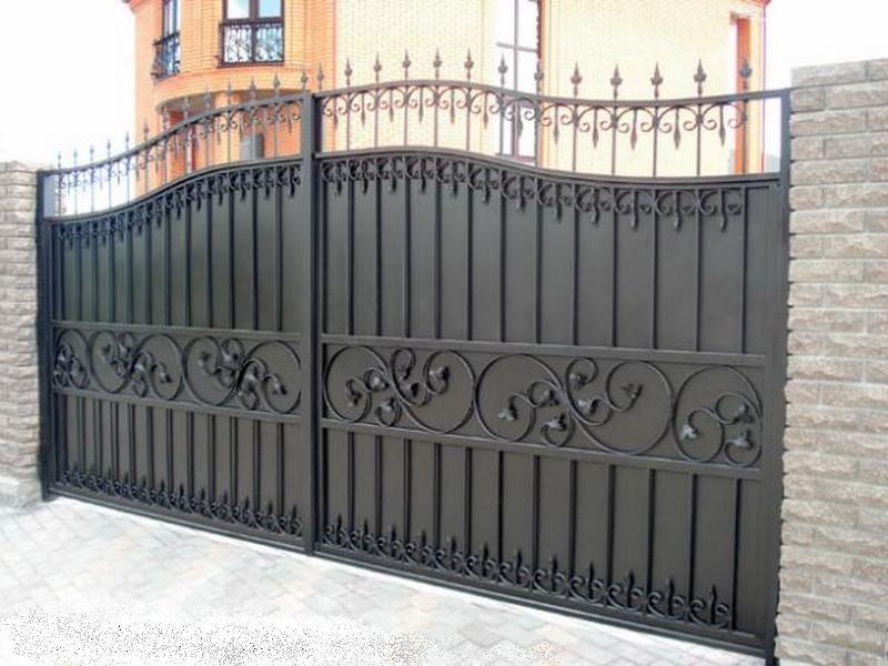 Железные распашные ворота в перми купити ворота в виннице