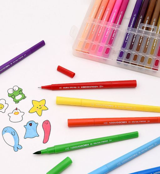 Набор маркеров Xiaomi KACO 36 color double head watercolor pen set