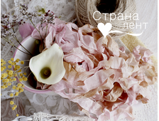 Шебби-лента Старинная роза