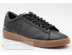 Кеды Nike SB Supreme Black Leather арт. N282