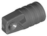 Hinge Cylinder 1 x 2 Locking with 1 Finger and Axle Hole on Ends without Slots, Dark Bluish Gray (53923 / 6265702)