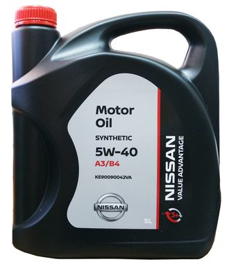 Масло моторное Nissan 5W-40 Value advantage 3+ 5л KE90090042VA