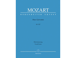Mozart Don Giovanni KV 527 vocal score
