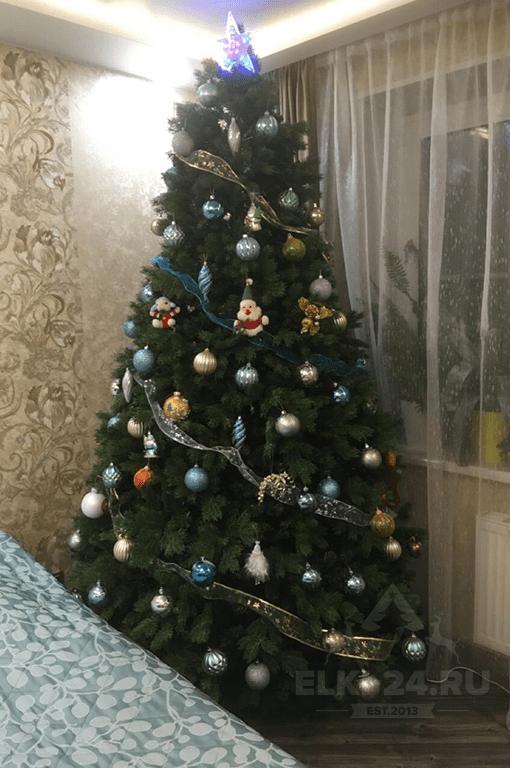 елка искусственная литая хвоя канадская elki-24.ru