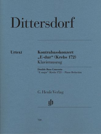 "Karl Ditters von Dittersdorf Double Bass Concerto ""E major"" Krebs 172"