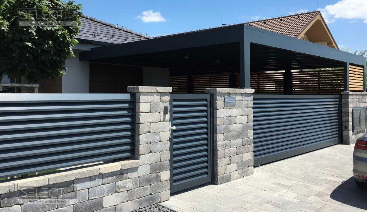 Ворота откатные по типу жалюзи - раздвижные уличные конструкции с автоматическим приводом