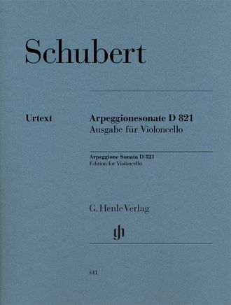 Schubert Arpeggione Sonata a minor D 821 version for Cello and Piano