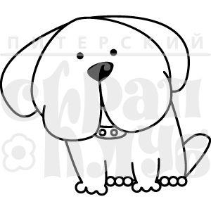 Штамп для скрапбукинга с псом