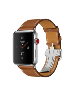 Apple Watch Hermès Series 3 42мм with fauve barenia single tour deployment buckle в iStore-Moscow