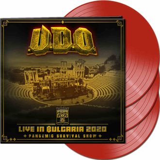 U.D.O. - Live in Bulgaria 2020-Pandemic Survival Show 3-LP RED