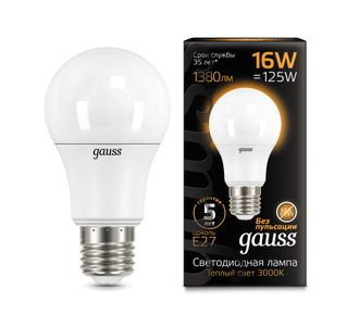 Gauss LED A60 16w 830/840 E27