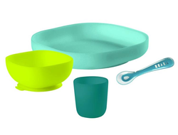 Набор посуды Beaba Silicine Meal Set Blue