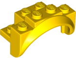 Vehicle, Mudguard 4 x 2 1/2 x 2 1/3 with Arch Round, Solid Studs, and Rounded Legs, Yellow (35789 / 6252538)