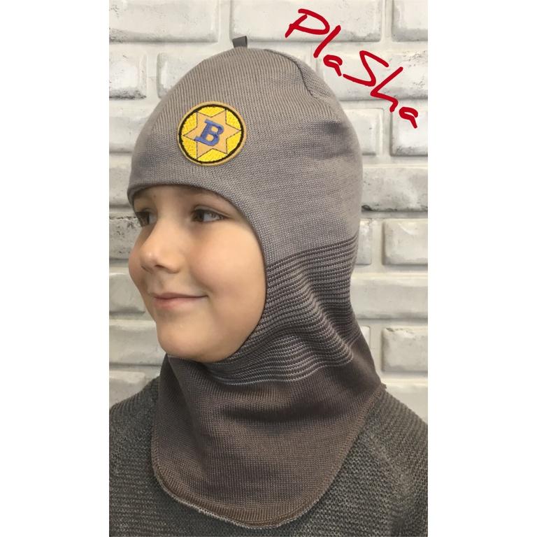 Арт.057 Шлем на флисовом подкладе для мальчиков