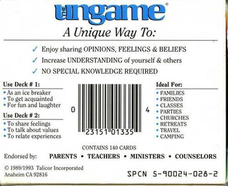 UNGAME (pocket teens version)