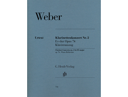 Weber Clarinet Concerto no. 2 E flat major op. 74