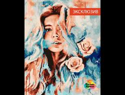 Картина по номерам GX 23282 Девушка и розы 40*50