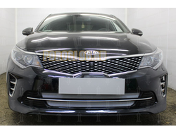 Защита радиатора KIA Optima 2015-2018 (GT / GT-Line) chrome низ