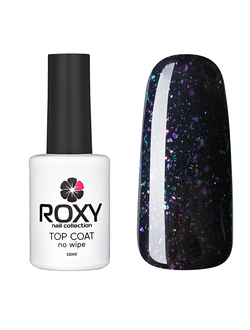 Топ без липкого слоя с шиммером - TOP COAT no wipe Т05 shine (10 ml)