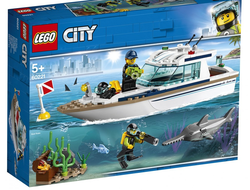 LEGO City Great Vehicles Конструктор Яхта для дайвинга, 60221