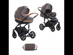 Универсальная коляска Tutis Mimi Style (2 в 1) Цвет Лен/капучино/кожа бежевая