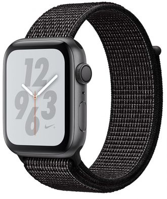 Apple Watch Series 4 44mm Space Gray with Black Nike Sport Loop Band