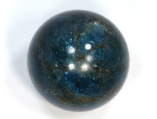 Шар Апатит синий, Бразилия (43 мм, 131 г) №20819