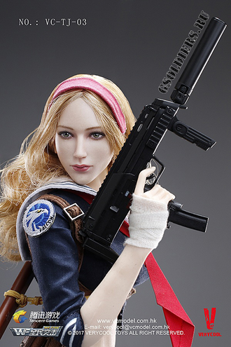 Blade Girl - КОЛЛЕКЦИОННАЯ ФИГУРКА 1/6 Wefire of Tencent Game Third Bomb Blade Girl VC-TJ-03 - VERYCOOL (После обзора)