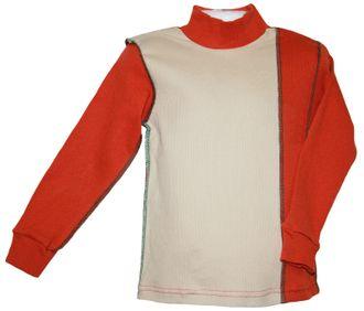 Джемпер для мальчика (Артикул 444-172) цвет рыжий