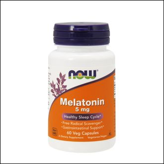 Добавка NOW Melatonin 5 mg 60 cap