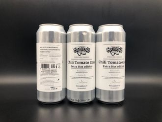 Chili Tomato Gose Extra Hot Edition Chilli / Chile Beer Чили Томатный Гос Экстра 5% IBU 0 0.5л (180) Saldens в банке