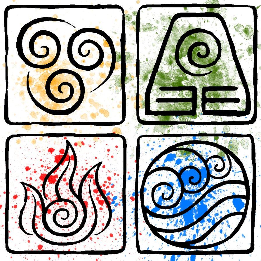 4 стихии рисунок