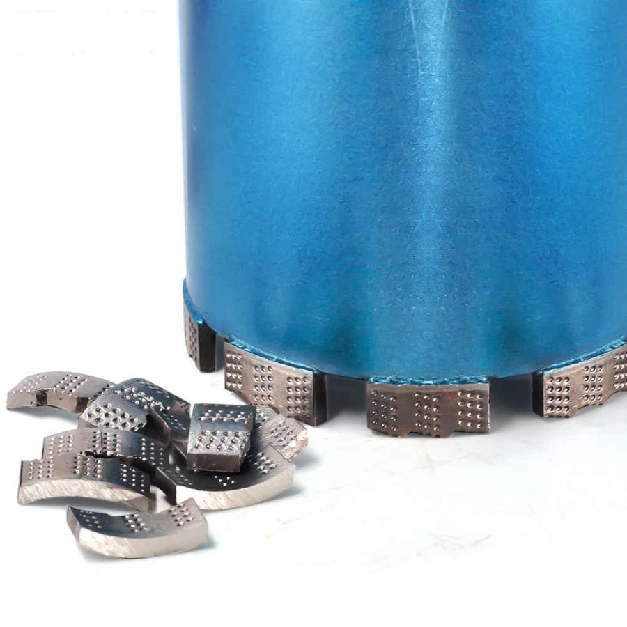 Алмазная коронка BYCON диаметр 220 мм L450 мм. CHETAK series. Лазерная сварка сегментов