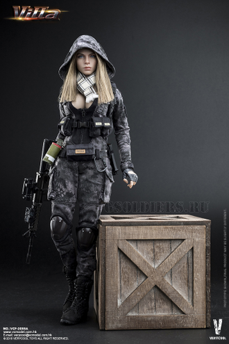 1/6 scale Action figure Camouflage Villa Sister Flower Police Black Python Stripe VCF-2035A VERYCOOL