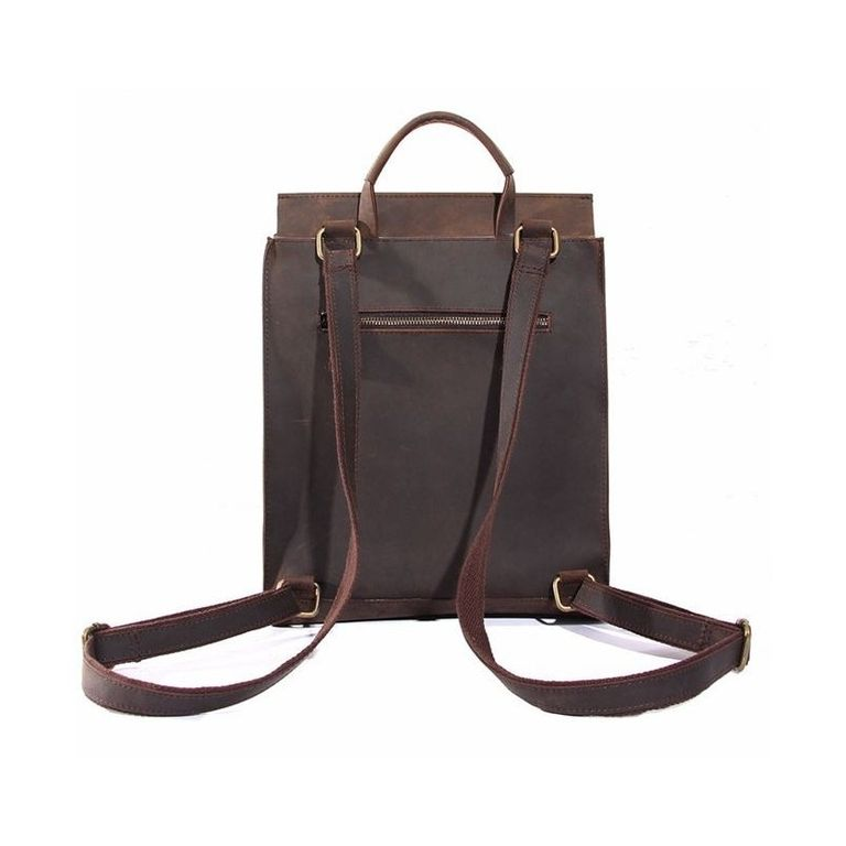 69d596b8d35c Кожаный рюкзак Мокко кофейного цвета