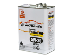 Масло моторное AUTOBACS Synthetic Engine Oil 5W-30 SN/GF-5 4л
